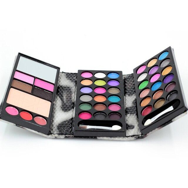 1 Conjuntos de Olho sombra Matte & Shimmer Sombra 36 cores de Blush + 2 + 2 Sobrancelha + 4 + Batom 1 Fundação Maquiagem Palatte Make Up Kit 8843 H