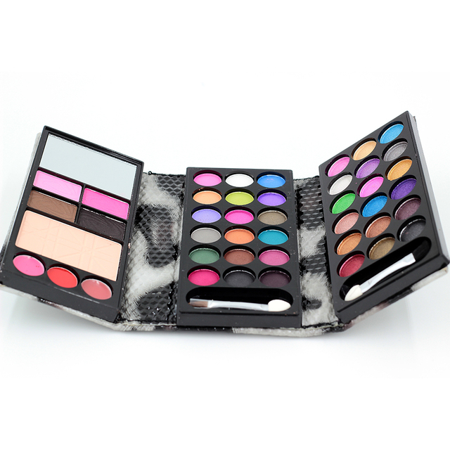 1 Sets Eye shadow Matte&Shimmer Eyeshadow 36colors+2Blush+2Eyebrow+4Lipstick+1Foundation Makeup Palatte Make Up Kit 8843H