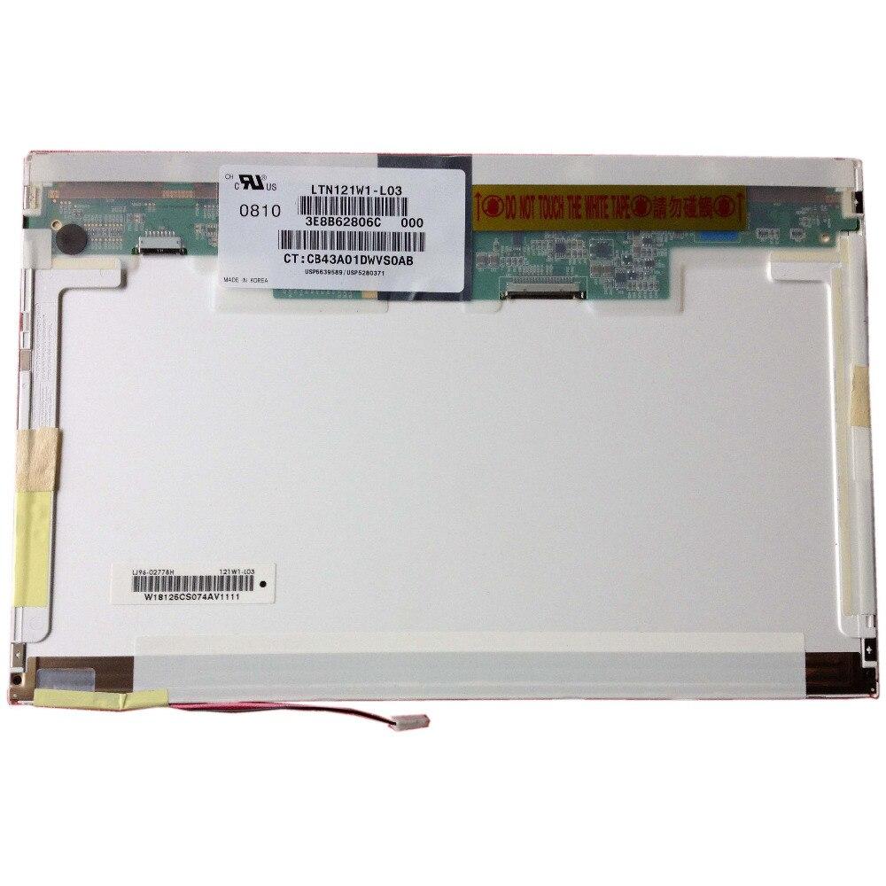 LALAWIN LTN121W1-L03 Fit LTN121AT01 B121EW03 N121I3-L01 LTD121EXVV LTD121EWVB 12.1 Inch LCD Screen Laptop Screen 20PIN XJ