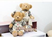a pair big green cartoon flower colth cute bear toys teddy bear toys lovers bears doll gift about 65cm