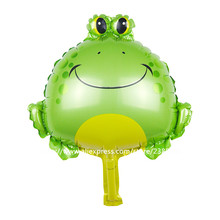 10 Pcs/Lot, Frog Pet Balloon, Baby Shower Animal Foil Balloon, Party/Birthday/Wedding Decorations toys