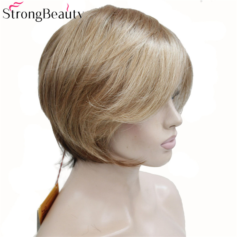Strong Beauty Short Synthetic Bob Wig Straight Wigs Heat Resistant Women Capless Hair in Synthetic None Lace Wigs from Hair Extensions Wigs