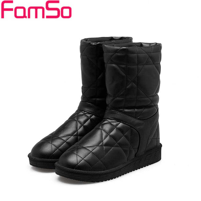 Free shipping 2016 new Black Flats Shoes Female Riding Boots Russia Winter Keep Warm Snow Boots