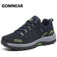 GOMNEAR New Men's Hiking Shoes Big Size Male Sneakers Outdoor Trekking Shoes Tactical Boots Anti-skid Tourism Mountain Sneakers merrto men s tactical boots hiking climbing shoes male breathable anti skid light weight waterproof outdoor trekking sneakers