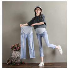 Джинсы для беременных, длина 3/4, женские летние джинсы для беременных, Одежда для беременных, брюки, Леггинсы для беременных, Одежда для беременных