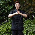 New Arrival Chinese Men Kung Fu Shirt Short Sleeve Kung Fu Cotton Linen Shirt Wu Shu  Clothing Tops M L XL XXL XXXL W20