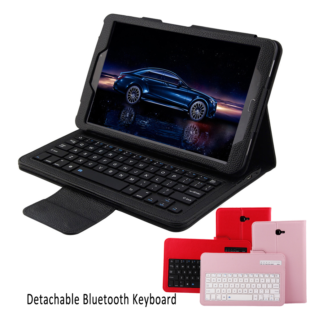 Tablet PC Wireless Bluetooth Keyboard Klavye Stand Folding Leather Protective Case Cover for Samsung Galaxy Tab A 10.1 T580 T581 removable wireless bluetooth russian hebrew spanish keyboard stand pu leather case for samsung galaxy tab a 9 7 t555 t551 t550