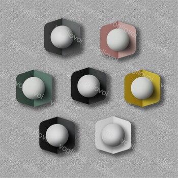 Vogliovoi Thrisdar Nordic Kreative E27 LED Wand Lampe Macarons Decke Lampe Persönlichkeit Schlafzimmer Treppen Aislighte Foyer Wand Licht