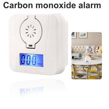 цена на Mini Carbon Monoxide Alarm for Household Carbon Monoxide Alarm Soot Honeycomb Gas Detector Smoke Detector