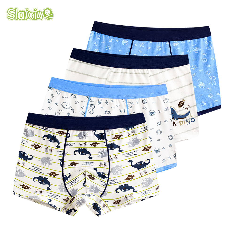 4 Pcs/lot Pure Color Kids Boys Girls Underwear Shorts Panties Soft Cotton Baby Boxer Children's Teenager Underwear 2-16y