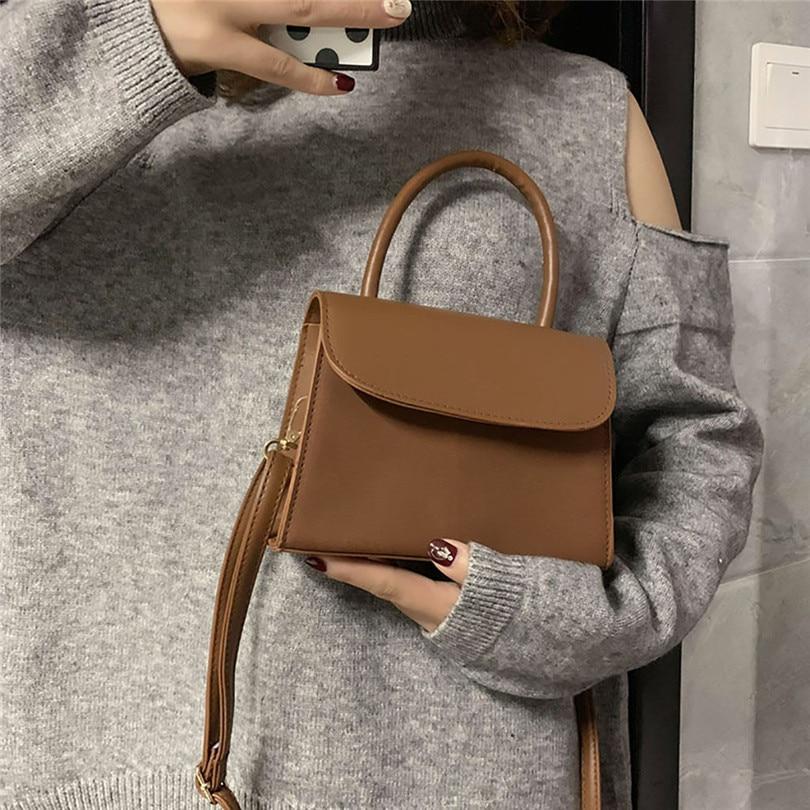 0d7833988fd3 AOTIAN Женская сумка через плечо ретро сумка через плечо корейский стиль  Маленькая квадратная сумка кожаная сумка A30