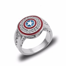 NEW avengers Movie marvel Superhero Ring Captain America Shield figure ring toys forgirlfriend gift
