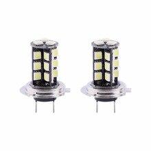 2x H7 Canbus Error Free 27 SMD 5050 LED Super Bright White Fog Light Bulb Lamp 100% Brand New