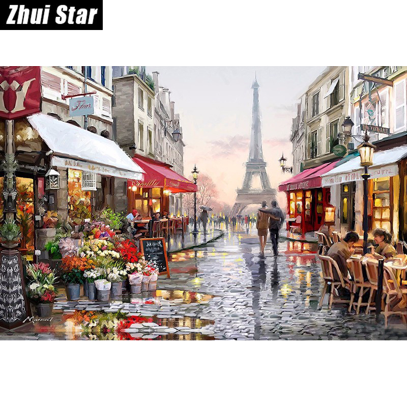 diamond embroidery kits diy 5d diamond painting mosaic pattern picture of rhinestones crystals Eiffel Tower