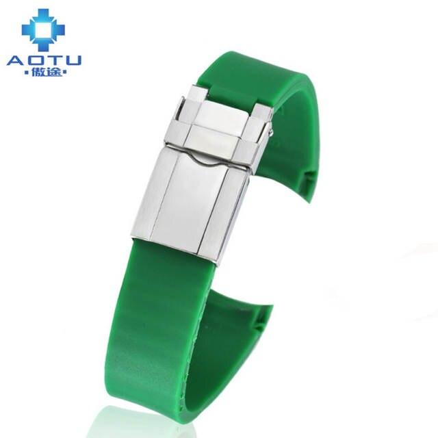 00e963aab3a Homens Silicone Watch Strap Para Rolex Daytona Fantasma Acessórios Cinta  20mm Masculino Faixa de Relógio Do