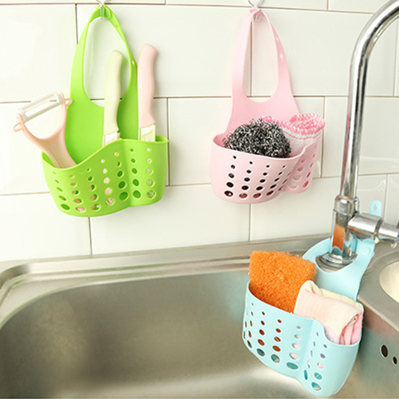 Portable Home Kitchen Hanging Drain Bag Basket Bath Storage Tools Sink Holder 32