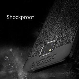 Image 4 - Odporny na wstrząsy pokrowiec do Huawei Mate 20 Pro skórzany pokrowiec TPU miękki ochronny zderzak gumowy matowy pokrowiec do Huawei Mate 20