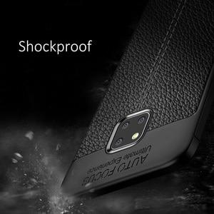 Image 4 - Schokbestendig Case Voor Huawei Mate 20 Pro Case Lederen Textuur Tpu Zachte Beschermende Bumper Rubber Mat Cover Voor Huawei Mate 20