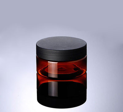 100G brown PET cream bottle Jar,100 g PET cream cans, plastic 100ml cream bottles with black matte cover Cosmetic Packaging