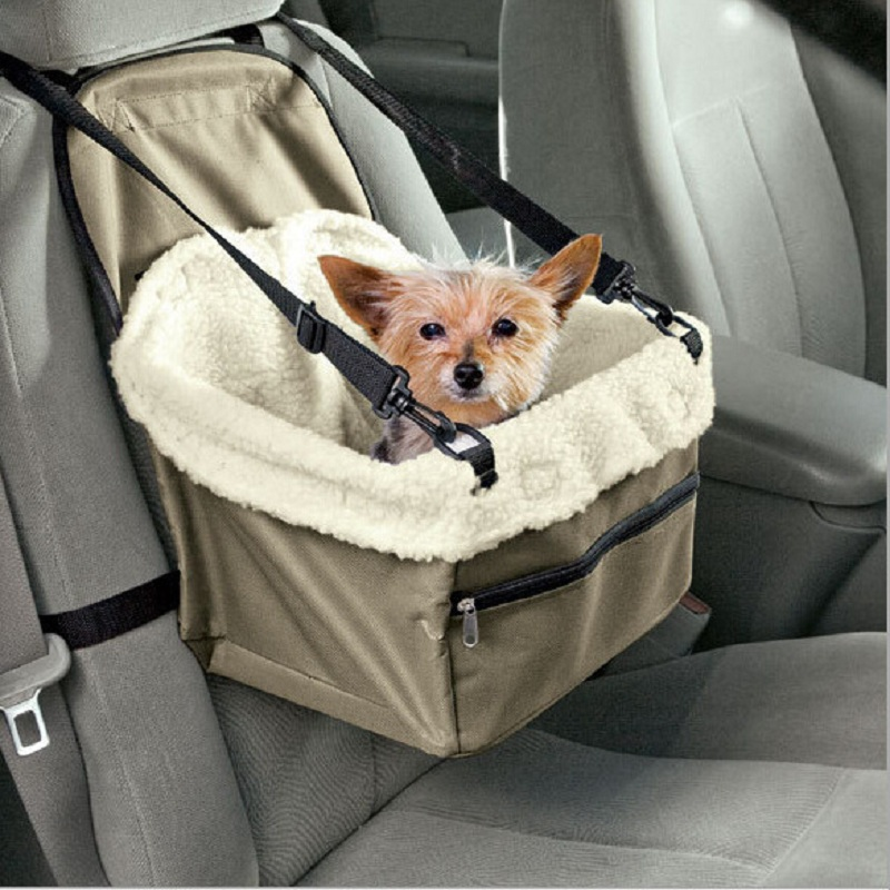 Dog Car Seat Dog Bag Stroller Portable Car Pet Carrier Booster Seat With Clip-on Safety Leash Pet Cat Bag Dog Carrier For Outing