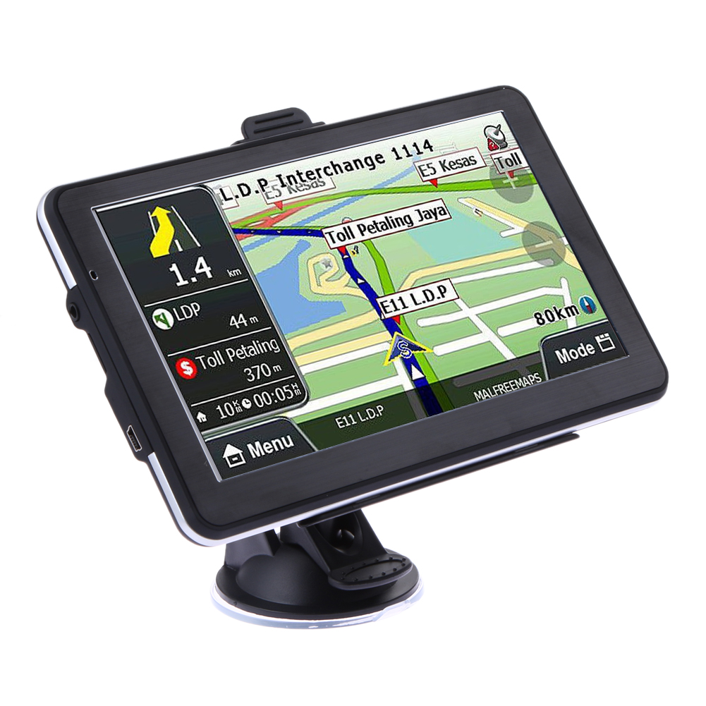 New 7 inch HD Car TRUCK GPS Navigator 800MHZ FM/DDR 8GB/128M Touch Screen New Maps Support FM Transmitter MP3/Mp4 5 inch hd car gps navigation cpu 800mhz fm 8gb ddr3 maps for europe us au truck navi camper caravan