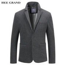 Hee Grand/Мужская Повседневная Блейзер Новое поступление 2017 года весь хлопок Материал Однобортный Демисезонный одноцветное Цвет костюм MWX387