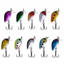 10 Pcs Assorted Colors Mini Crank Bait 30mm 1.5g Bass Fishing Lures Floating Carp Fishing Artificial Fishing Tackle