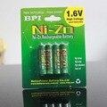 4 unids/lote original nuevo bpi aaa 1000 mah 1.6 v 1.5 v ni-zn de la batería baja auto-descarga batería recargable de baterías de alta persistencia