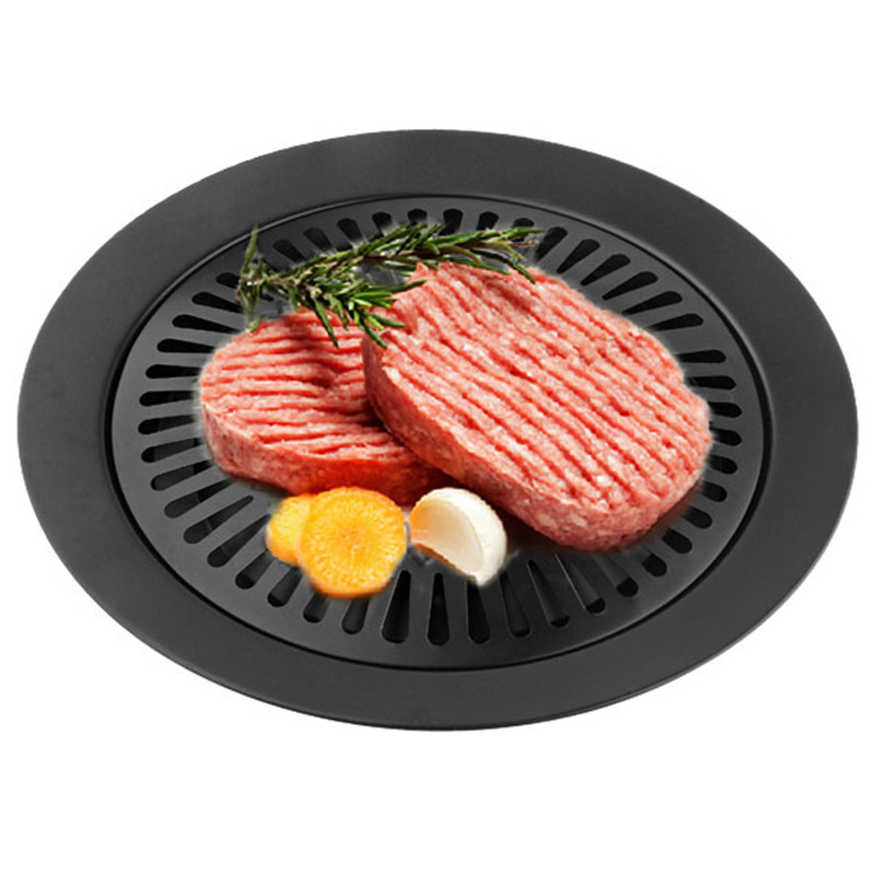 E-SHOW Smokeless Indoor BBQ Barbecue Tools barbecue grill gas Household non-stick iron Gas Stove plate high quality
