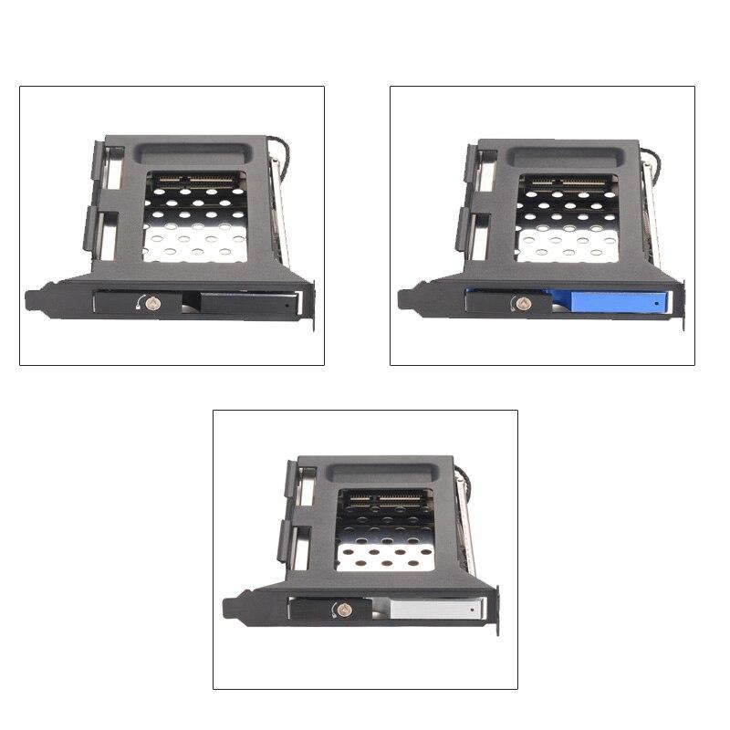 2.5in Aluminum Case Sata Bracket HDD PCI Expansion Slot SATA Hot Swap Mobile Rack For 2.5in Enclosure