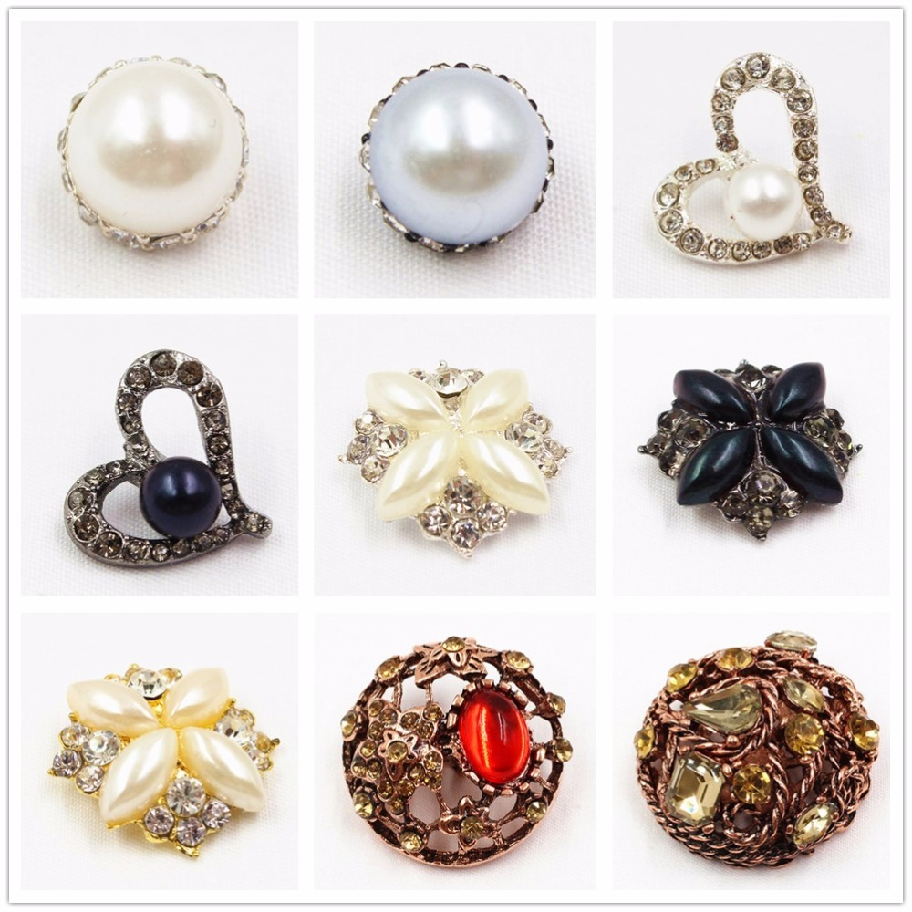 button Jewelry 1651815f1 1 Pcs Love Pearl Metal Buttons Coat Buttons Diy Handmade Clothing Accessories We Take Customers As Our Gods