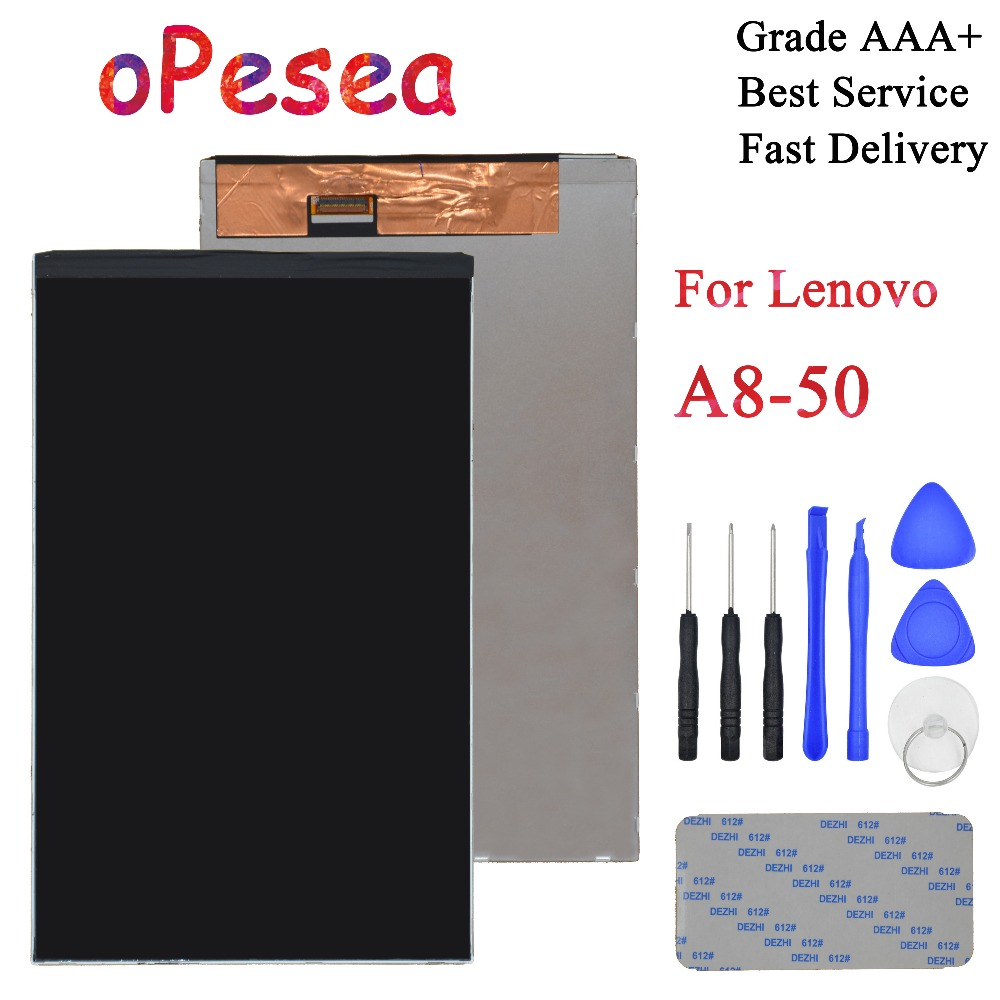 Galleria fotografica oPesea 8.0'' For Lenovo Tab 2 A8-50 A8-50F A8-50LC Tablet PC LCD Display Screen Panel Monitor Module Replacement Parts
