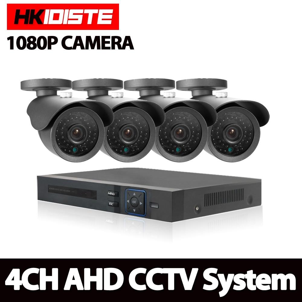 4CH 1080N HDMI DVR HD 2.0MP Étanche Extérieure 1080 p Sécurité Système de caméra 4 Canaux de Surveillance CCTV DVR Kit AHD Caméra ensemble