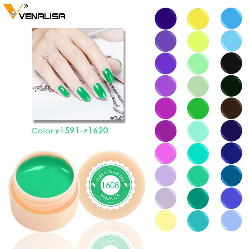 Venalisa 5ml white jar Pure Color nail Art gel Paint Gel Tips DIY Decoration CANNI Factory Price Painting LED&UV Gel paint цена