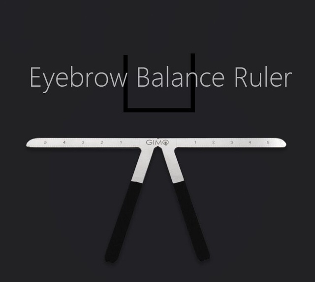 Biomaser Tattoo Eyebrow Ruler Three-Point Positioning Permanent Makeup Symmetrical tool Grooming Stencil Shaper Balance Ruler