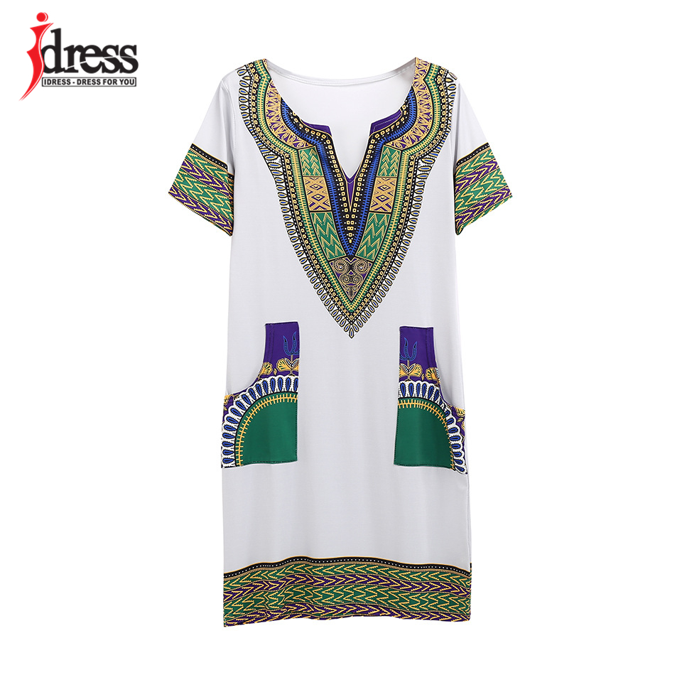 IDress S-XXXL Plus Size Sexy Casual Summer Dress Women Short Sleeve Party Dresses 2017 Black Vintage Traditional Printed Dresses (12)