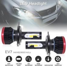 1 пара супер мини H4/HB2/9003 120 W 20000LM 6500 K Hi/Lo автомобиля УДАРА светодиодный фары лампы Авто универсальный набор преобразования лампы