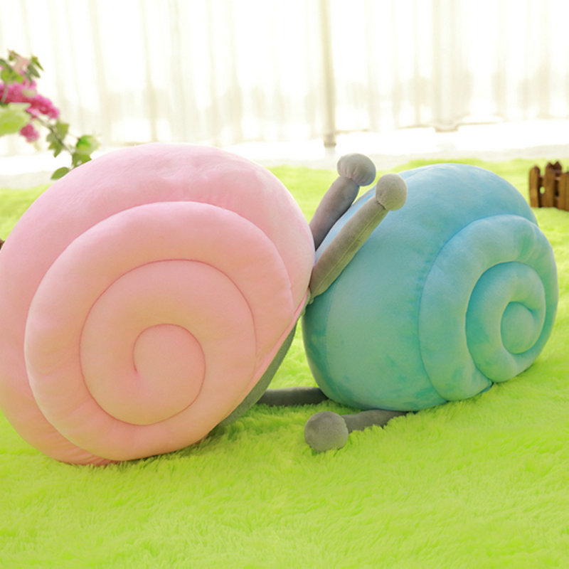 40*30cm 2017 New Style Snail plush toys Sleeping pillow Cushion Snail cloth doll stuffed plush baby toys birthday gift fancytrader new style giant plush stuffed kids toys lovely rubber duck 39 100cm yellow rubber duck free shipping ft90122