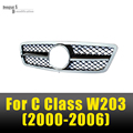 Mercedes W203 1-Fin Grades Corrida Grade da Malha do Amortecedor Dianteiro Para O Benz C Class W203 C220 C240 2000-2006 4 Portas Sedan só