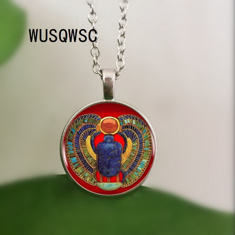 WUSQWSC Fashion Egyptian Scarab Necklace, ancient egypt ornaments Egypt necklace Egyptian jewelry For Women, 3 colors for choice image