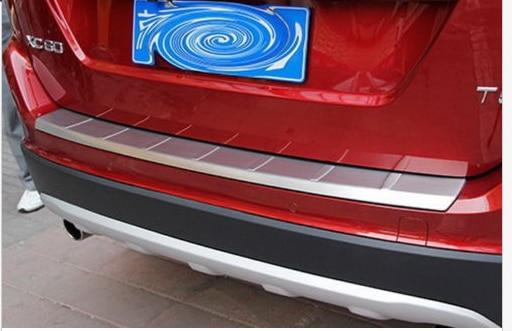 Rear Bumper Protector Sill plate cover For VOLVO XC60 2010 2011 2012 rear bumper sill plate guards cover for renault koleos 2008 2009 2010 2011 2012