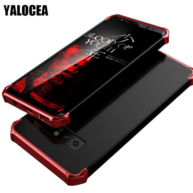 YALOCEA For Samsung Note 8 Case Luxury 3 in 1 Plating Hard PC Matte Full Protective Cases For Samsung Galaxy Note 8 Case Cover