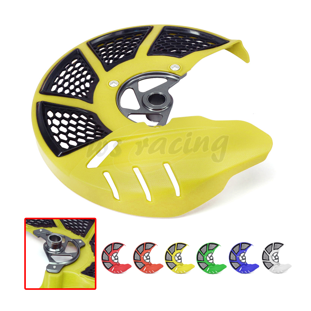 Motorcycle Front Brake Disc Rotor Guard Cover Protector For SUZUKI RMZ250 RMZ 250 2007-2017 RMZ450 450 05-17 RMX450Z 10-16 cnc front brake line hose clamps holder for suzuki rm85 rm125 rm250 rmz250 rmz450 rmx450z drz400sm motorcycle