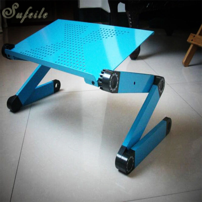 Sufeile hot selling popular laptop desk 360 degree adjustable folding laptop notebook desk table stand portable