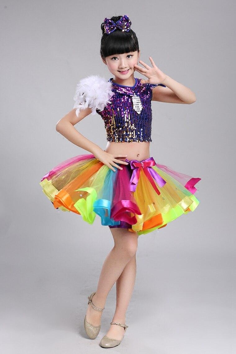 Child Jazz Dance Costume For Girl Top Skirt Hip Hop Dance Costume Kids Ballroom Dance Dress For Performance Hip Hop Dance Wear 3 Ballroom Dance Dress Child Jazzcostume Dance Costumes Aliexpress