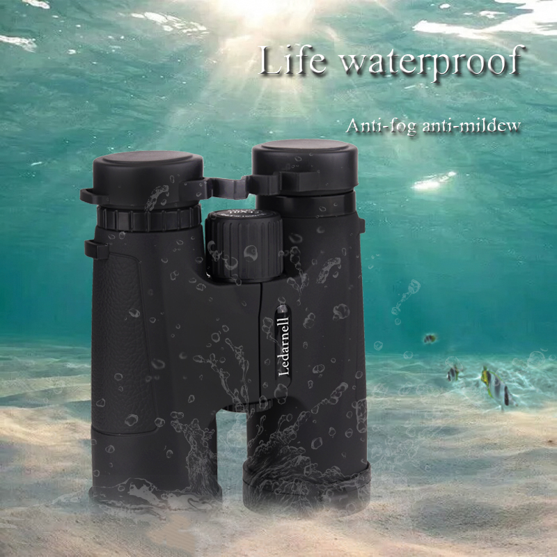 Military HD 10x42 professional hunting binoculars, a telescope with a magnification, high quality, no infrared vision, Green spark 5 0x magnification professional