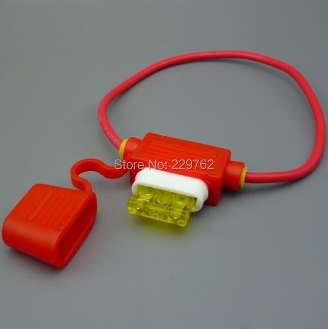 shhworldsea rubber + ceramic 20 amp AUTO Blade In Line ceramic Mini ...