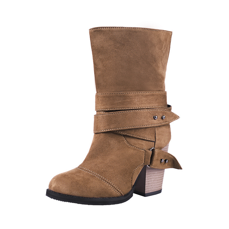 2019 autumn and winter new Martin boots Europe and the short tube super high heel womens boots brwon 02192019 autumn and winter new Martin boots Europe and the short tube super high heel womens boots brwon 0219