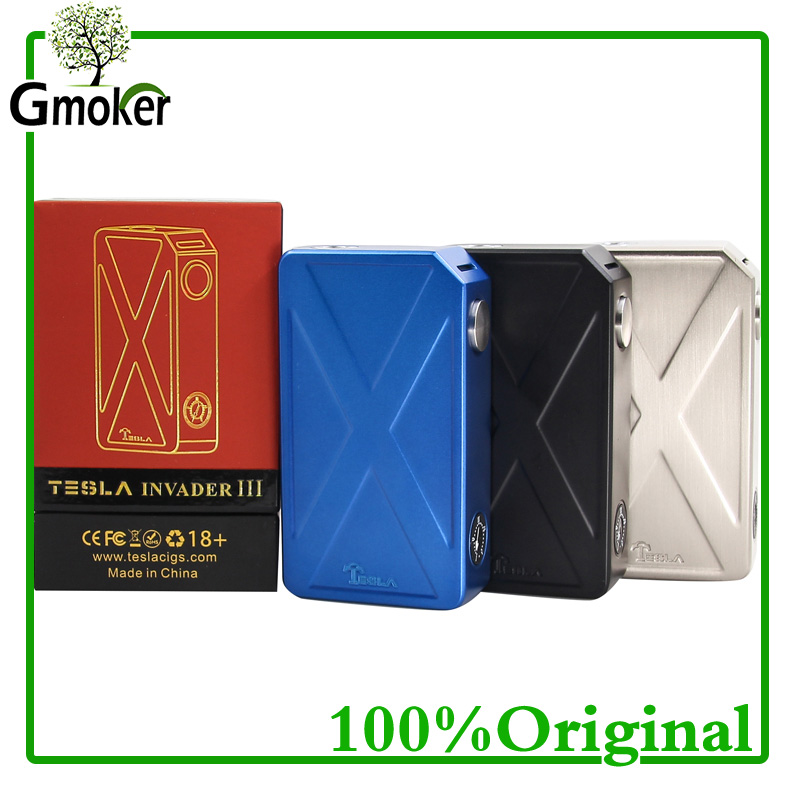 Original Tesla Invader 3  III 240W Box Mod Invader 3 Vaporizer Mod for 510 Thread Electronic cigarette vape VS voopoo drag 157w