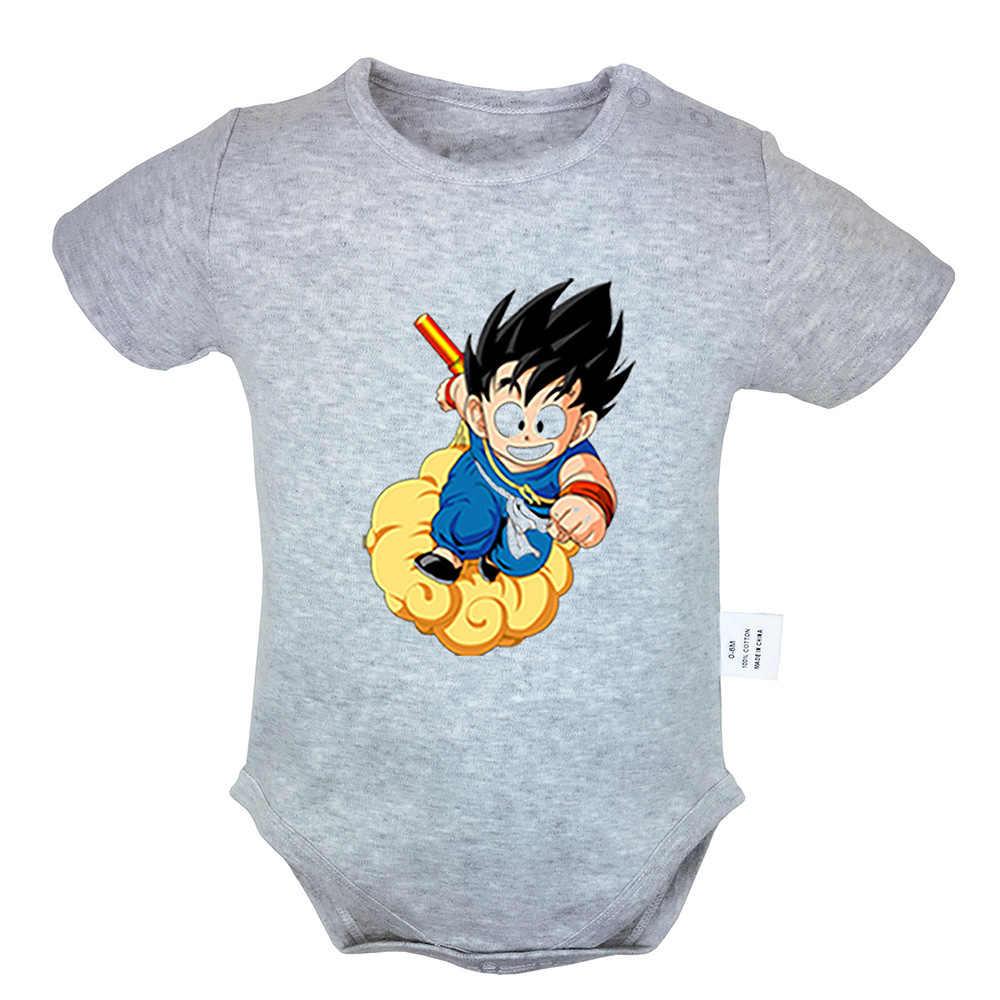 Dragon Ball Chiến Đấu Goku Hồng môi lớn và tựa Thiết Kế Sơ sinh Bé Trai Bé Gái Trang Phục Jumpsuit In Hình Trẻ Sơ Sinh Bodysuit Quần Áo